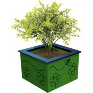HDPE Planter Box Green