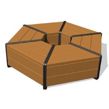 Hex Bench Seat Segments The Plastic Company