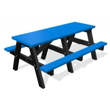 Blue 1800 ColourBurst Picnic Table