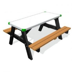 GameBoard 1500 Picnic Table - Plain Dry-Wipe