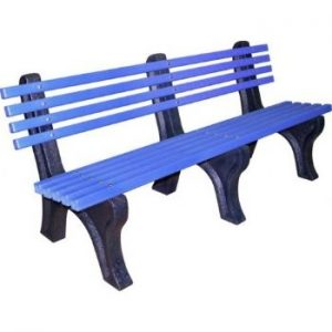 Blue Laverstock 1800 Bench With Back