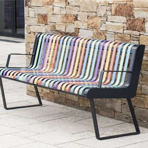 Pastel Bench With Back B
