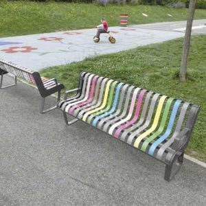 Pastel Bench With Back C