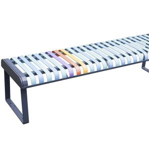 Pastel Bench With Backless